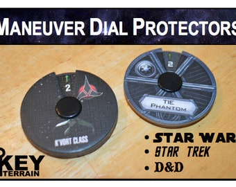 Maneuver Dial Protectors: X-Wing Miniatures Game, Star Trek, D&D Attack Wing (5x Sheets of 3 each)