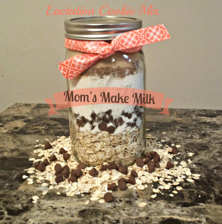 Lactation Cookie dough Mix in a Mason Jar DIY baking