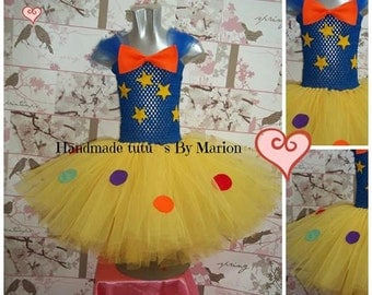 Cbeebies Mr Tumble inspired knee length tutu dress