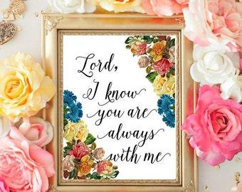 Lord's Prayer printable scripture Bible verse Art Print, Lord bible verse print, digital INSTANT DOWNLOAD  InfinityArtByGia