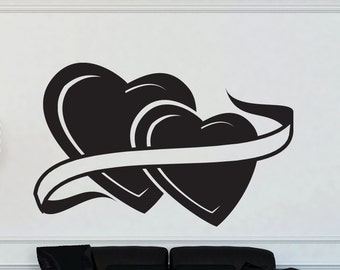 Wedding Love Hearts Vinyl Wall Decal Graphic