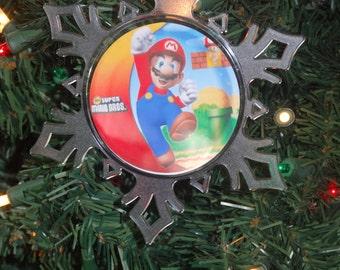 Super Mario Brothers Personalized Snowflake Ornament Free Personalization