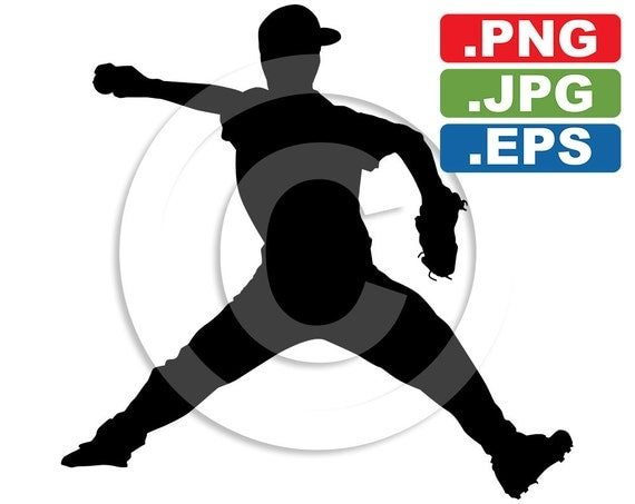 Youth Baseball Silhouette Clip Art Image svg by ...