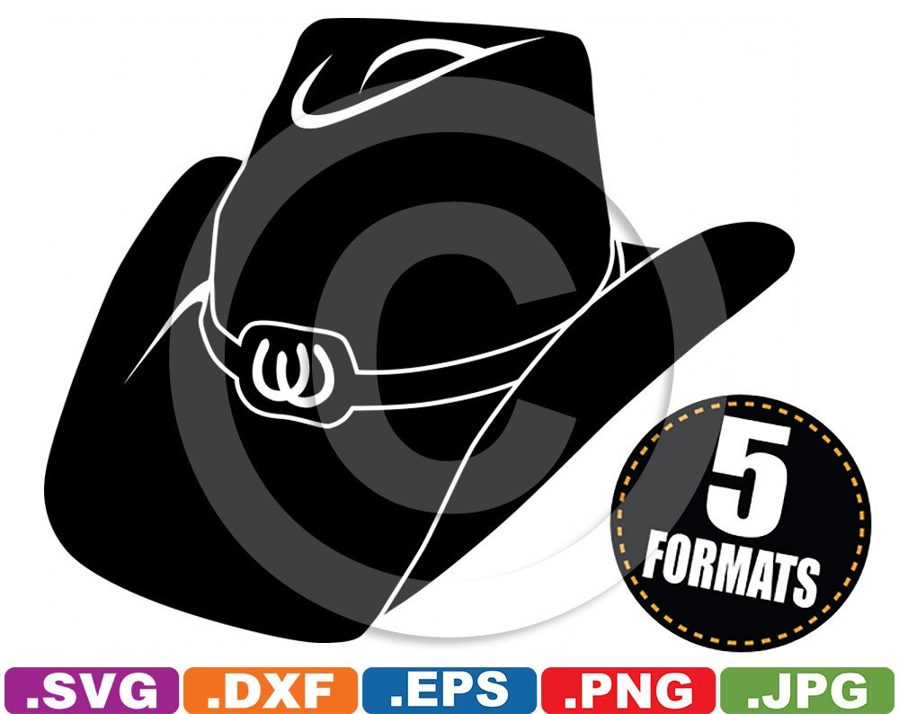 Cowboy / Cowgirl Hat Clip Art Image svg & dxf vinyl cutting
