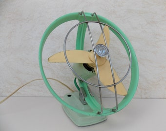 Vintage Fan, Electric fan, Table Desk Fan, Wall Fan , Table ventilator, Green and Blue , Vintage Ventilator , Ventilator