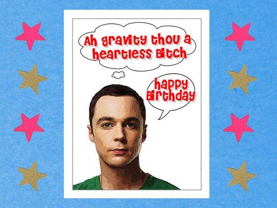 Items similar to The Big Bang Theory Card funny birthday card – Big Bang Theory Birthday Card