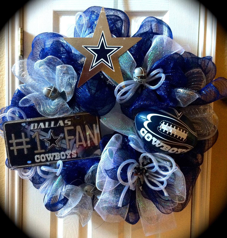 Deluxe Deco Mesh Wreaths Dallas Cowboys Wreath Ultimate Fan