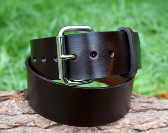 Cristopher Handmade Brown Leather Belt