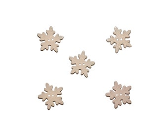 snowflakes, wooden buttons, kids buttons, nature