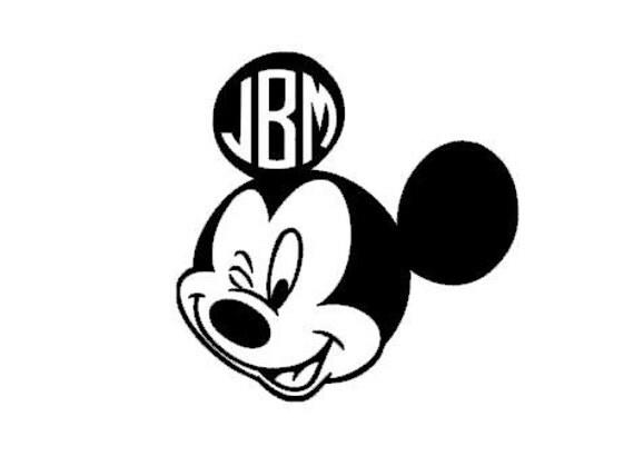 mickey mouse monogram decal monogram sticker computer