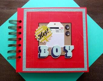 Boy Scrapbook, Pre-made Boy Mini Album, Boy Photo Album