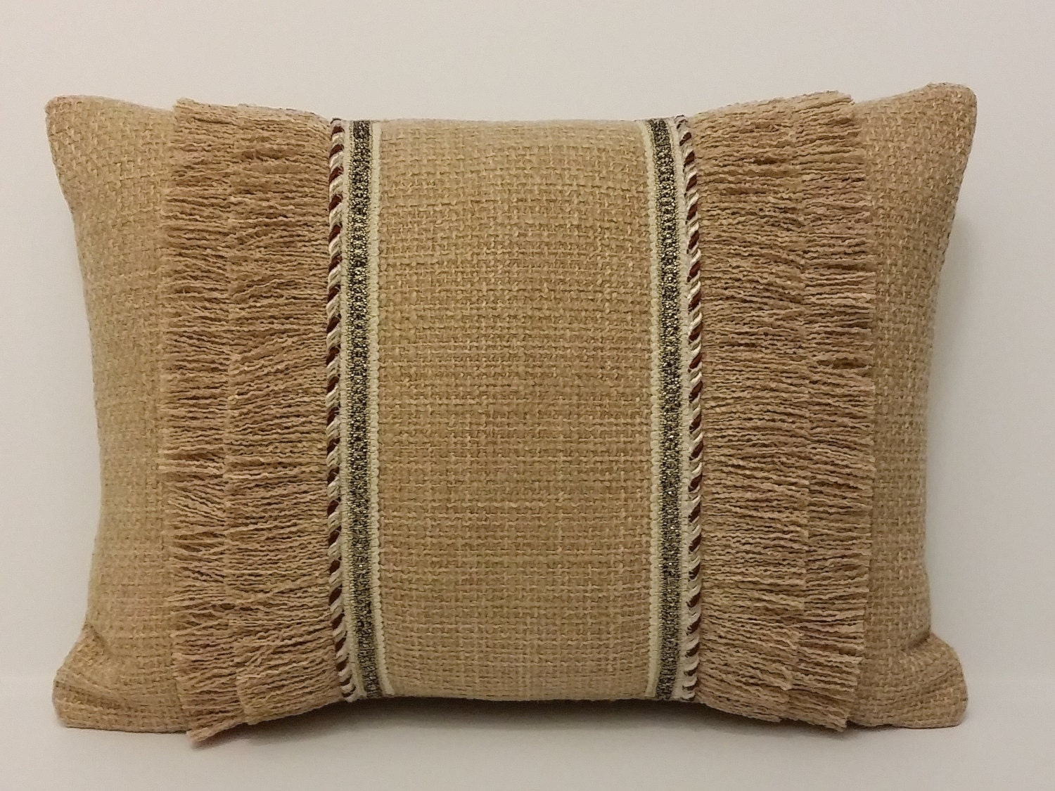 Decorative Throw Pillows With Fringe : Camel Throw Pillow Camel Fringe Pillow Camel by OvationsInStyle