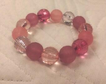 Pretty Pink Toddler Girl Bracelet