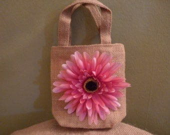 Rustic, Shabby Chic flower girl purse, flower girl bag,