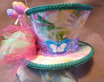 Easter Mini Top Hat, Spring Mini Hat, Easter Egg Mini Hat, Mini Top Hat, Mini Hat, Easter Fascinator, Mad Hatter Mini Top Hat, Tea Party Hat