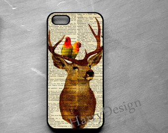 Birds and Deer iPhone case, iPhone 4 / 4s / 5 / 5s /5c, iPhone 6 /6 Plus case, Samsung Galaxy S3 / S4 / S5 case, Note 2, Note 3, Note 4 case