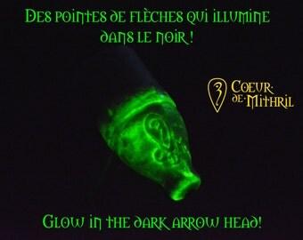 Larp arrows x6 white glow in the dark