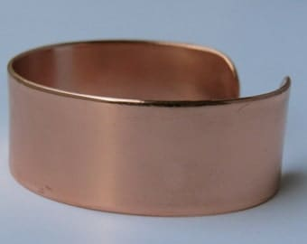 High polished copper cuff bracelet