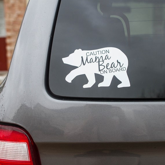Bear Is Driving Car Decal
