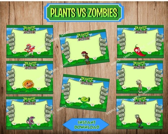 Plants vs zombies food labels plants vs zombies by for Table zombies pdf