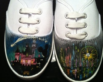 A Night in Disneyland Custom Shoes
