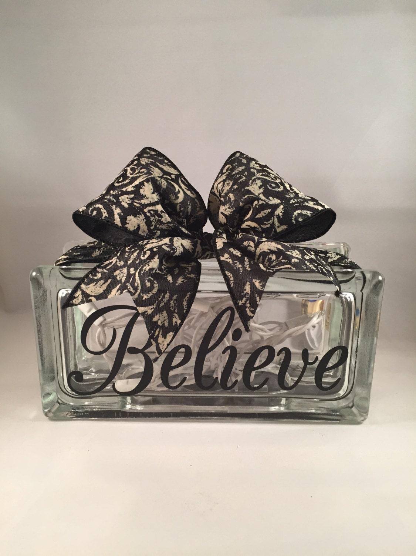 Believe rectangular decorative home decor lighted glass block for Designer glass block