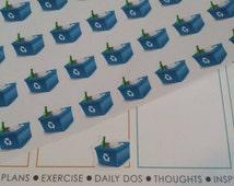 Recycle Stickers! Perfect for your Erin Condren Life Planner, calendar, Paper Plum, Filofax!