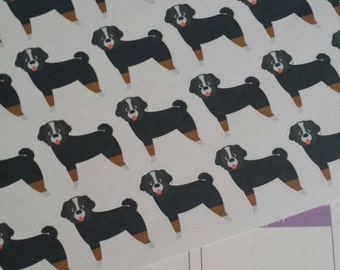 Bernese Mountain Dog Stickers! Dog Stickers! Perfect for your Erin Condren Life Planner, calendar, Paper Plum, Filofax!