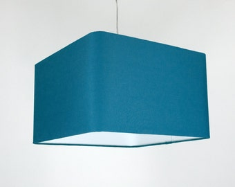 Lampshade 'Square Teal 50'