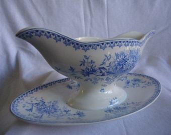 vintage dutch sauce bowl of societe ceramique maastricht 1920