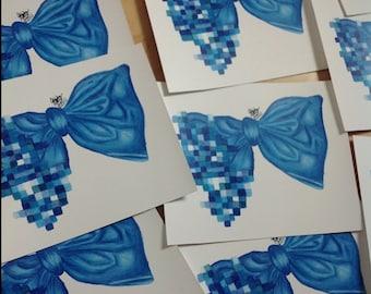 Blue Bow' High Quality Prints