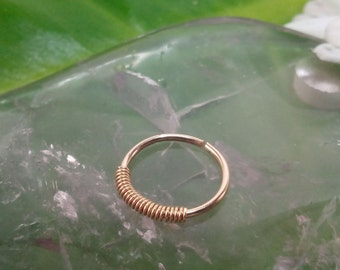 Tiny Nose Ring , 22 ,20 Gauge Nose Ring ,gold nose ring,small gold hoop