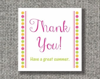 """Set of 24 thank you 2.5"""" x 2.5"""" cards or stickers, gift enclosure, gift tags"""
