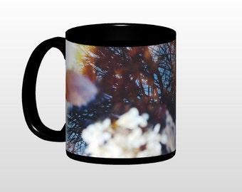 Reflection COFFEE MUG original photography print nature floral water dark abstract art print