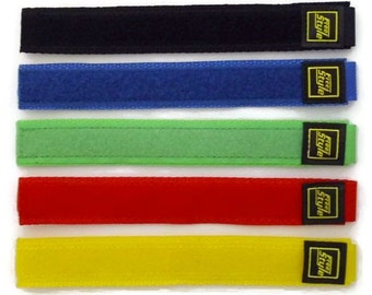 Velcro® Watch Strap/Band Black Blue Green Red Yellow
