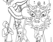Chinese New Year Coloring and Dot-to-Dot Activity Pages