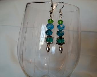 Blue and Green Earrings EA110