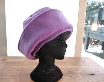 Purple fleece Nel hat
