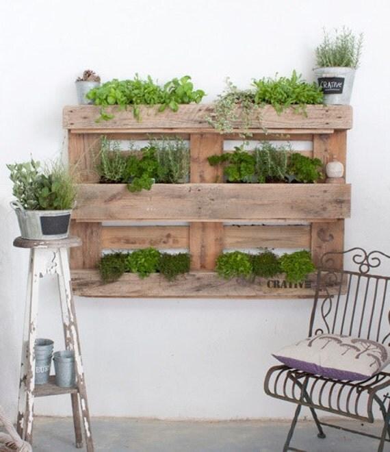jardin vertical de palette style industriel upcycled par. Black Bedroom Furniture Sets. Home Design Ideas
