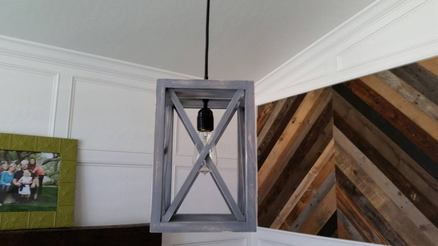Rustic Industrial Pendant X Light Now On Sale