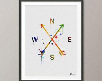 Arrow poster, arrow print, arrow painting, arrow art, arrow watercolor art, arrow decor, arrow wall hanging, watercolor painting -A083