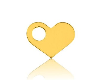 Gold-plated Charm Heart for chains (don't need jumpring) bl 182