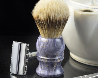 Silvertip Badger shaving brush with purple burl handle