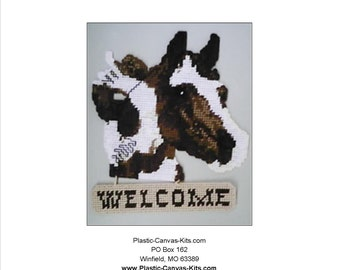 Horse Welcome Sign-Plastic Canvas Pattern-PDF Download