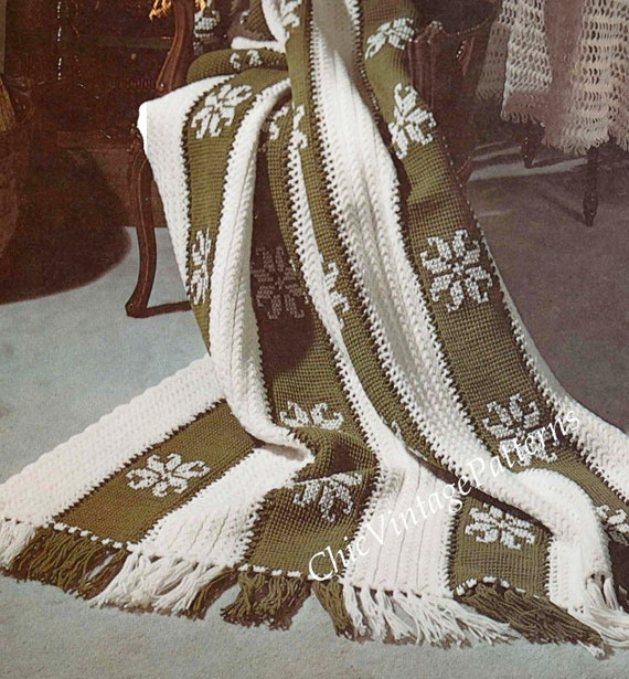 Afghan Rug Pattern ... PDF CROCHET and KNITTING Pattern ...