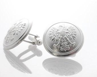 Cufflinks, sterling silver, handcrafted