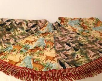 Woodland Scenes Christmas Tree Skirt