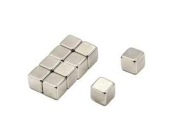 "Cube Neodymium Rare Earth Strong Magnets 3mmx3mmx3mm - 1/8""x1/8""x1/8"", (10 pack)"
