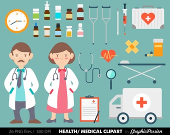 Health clipart Medical Clipart Doctor clipart Nurse image Hospital clip art INSTAND DOWNLOAD