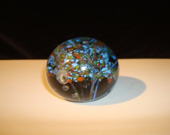Blue multicolor paperweight
